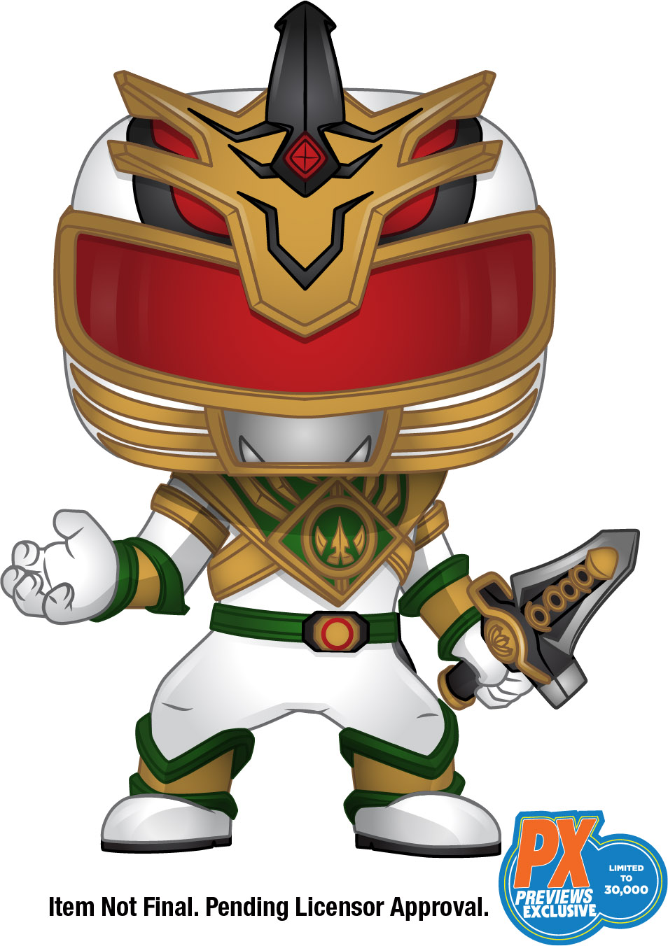 PREVIEWS, exclusive, Funko, POP!, Diamond, Power Rangers, Shattered Grid, Lord Drakkon, BOOM! Studios