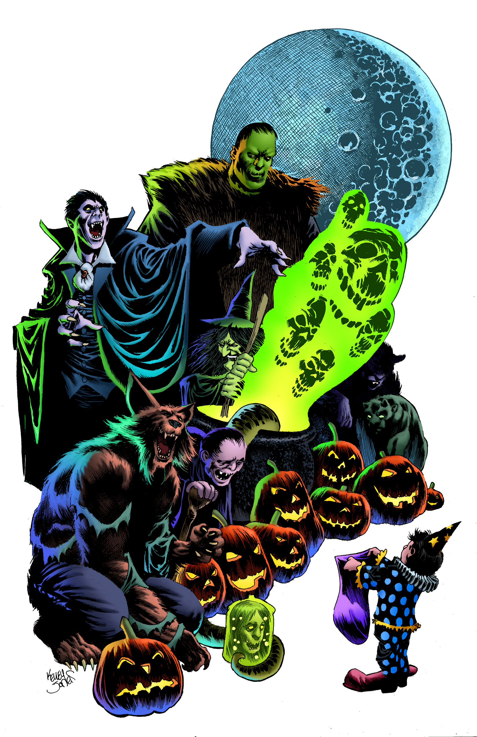 Halloween ComicFest, HCF, Kelley Jones, commemorative, t-shirt