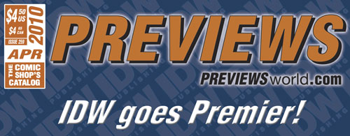 IDW Goes Premier in April PREVIEWS!